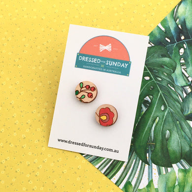 Mexi Folk Stud Earrings