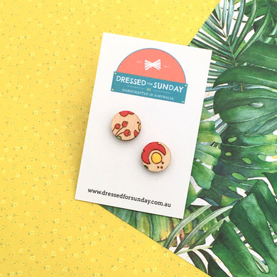 Mexi Folk Stud Earrings - Dressed for Sunday