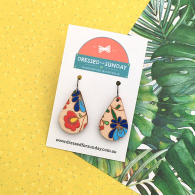 Mexi Folk Teardrop Drop Earrings - Dressed for Sunday