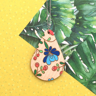 Mexi Folk Teardrop Necklace - Dressed for Sunday