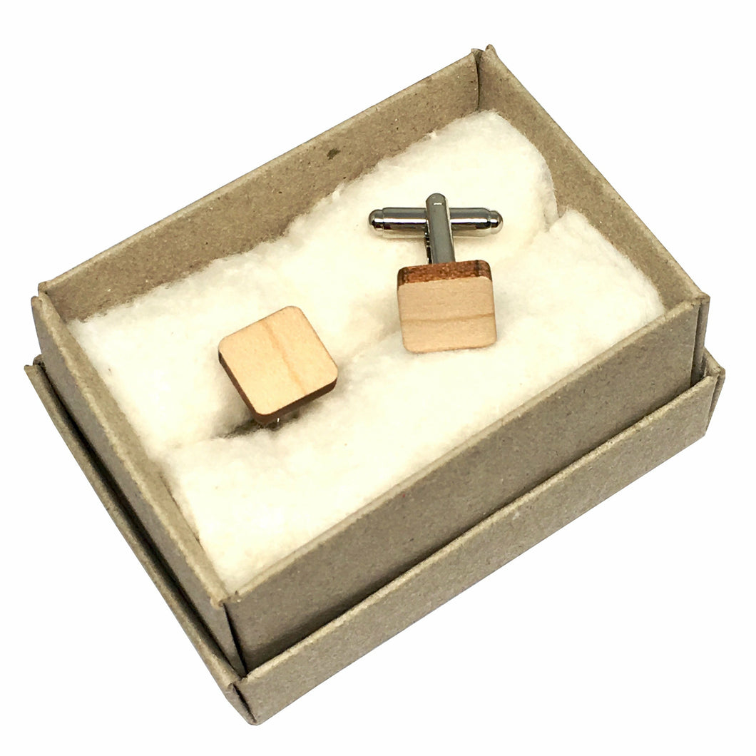 Dressed for Sunday Cufflinks Square Handpainted Vintage Inspired Canberra Handmade for the Dapper Gent