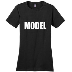 Cute Model T-Shirt - Black / Xs