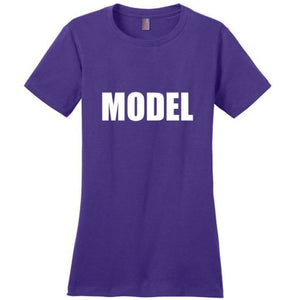Cute Model T-Shirt - Purple / Xs