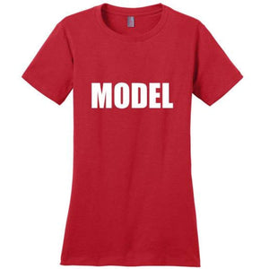 Cute Model T-Shirt - Red / Xs