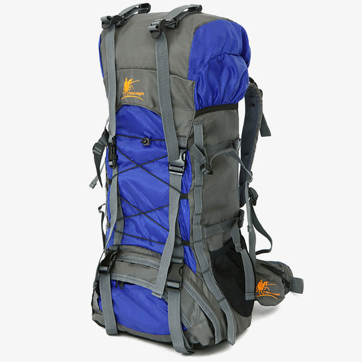 SPACIOUS 60L NYLON TRAVEL BACKPACK