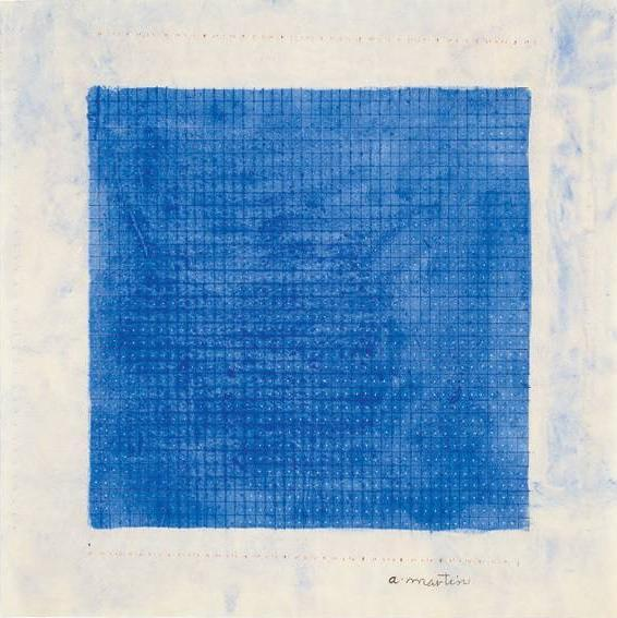 On the wall: Agnes Martin