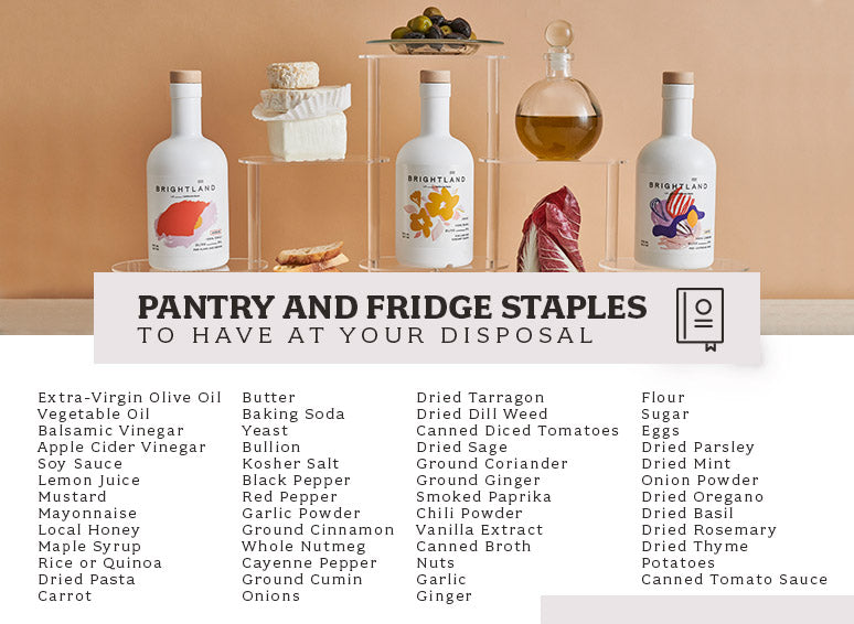 Pantry and Fridge Staples