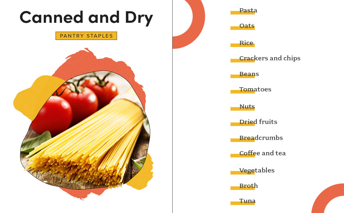 canned and dry pantry staples