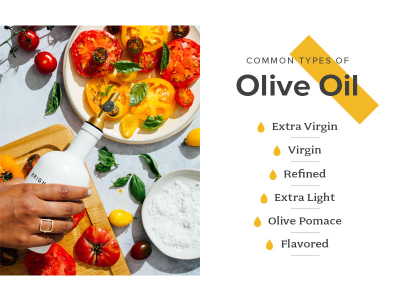 common types of olive oil