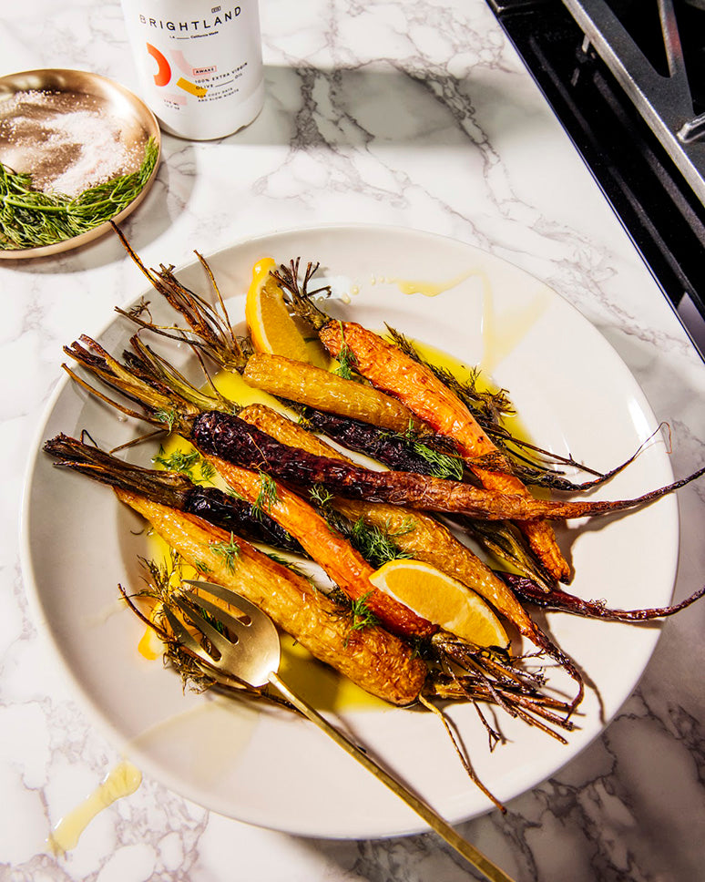 roasted carrots on plate