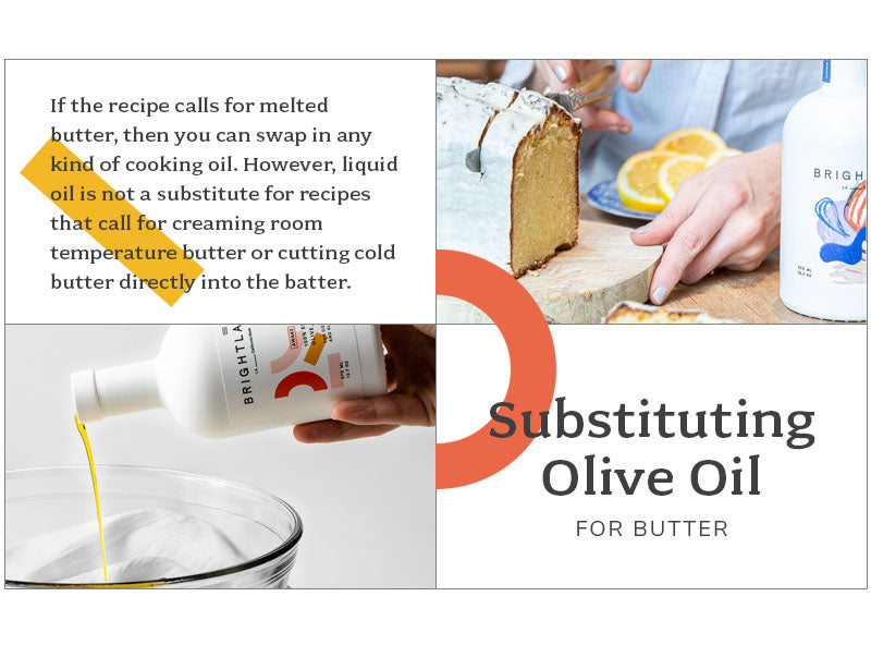 substituting olive oil for butter