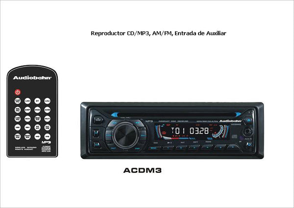 AUTOESTEREO CD/MP3/RADIO AM FM AUDIOBAHN BLUETOOTH