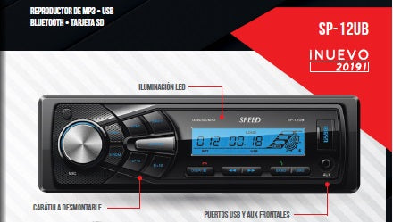 ESTEREO SPEED USB MP3 BT  SP-12UB