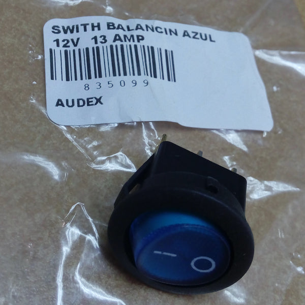 SWITH BALANCIN AZUL 12V  13 AMP
