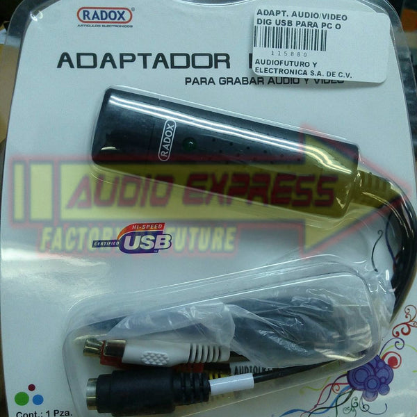 ADAPT. AUDIO/VIDEO DIG USB PARA PC O LAPTOP