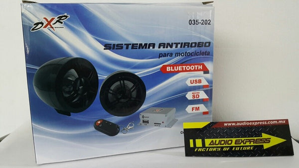 ALARMA MOTOCICLETA CON AUDIO Y BLUETOOTH