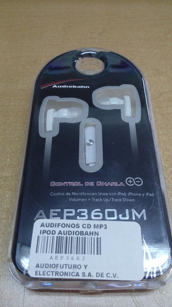 AUDIFONOS CD MP3  IPOD AUDIOBAHN      AEP360J