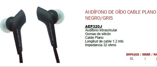 AUDIFONOS CD MP3  IPOD AUDIOBAHN      AEP320J