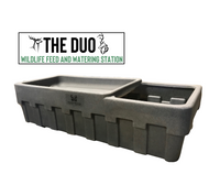 THE DUO - Wildlife Feed and Watering Station, Treat Trough, Feed Trough, Deer Feeder, Water Trough