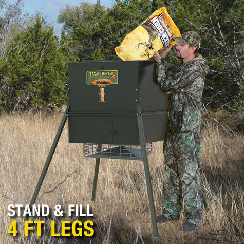 650 lb. Wildlife Trophy Feeder with 4' Extension Legs