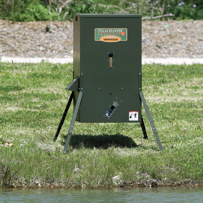 250 lb. Lake & Pond Fish Feeder with Adjustable Legs