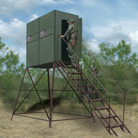 4' X 8' Xtreme Blind w/ 8' Tower, Full Door, Stairs & Handrails