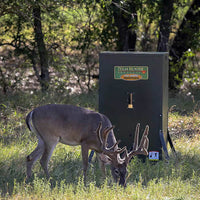 Texas Hunter Products: Hide-A-Way Stand & Fill Directional Wildlife Feeder w/FREE SOLAR PANEL