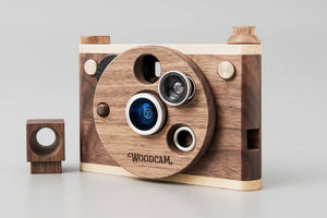 Father's Factory - Multi-Lense Wooden Digtial Camera-Vintage One