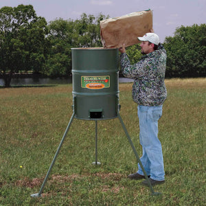 TEXAS HUNTER 300 LB. PROTEIN BARREL FEEDER - FREE SHIPPING