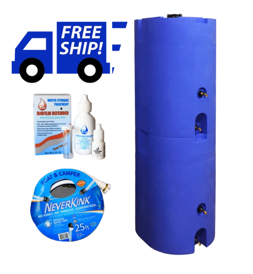 Emergency Water Storage Tanks 160 gallon (Two Tank Set)