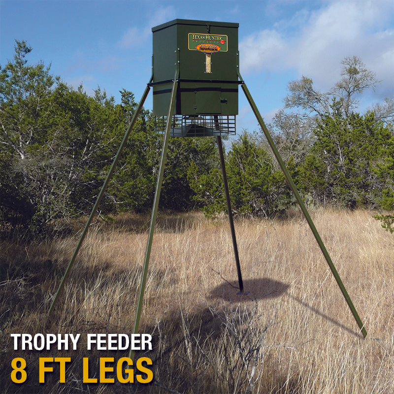 300 lb. Wildlife Trophy Feeder with 8' Extension Legs