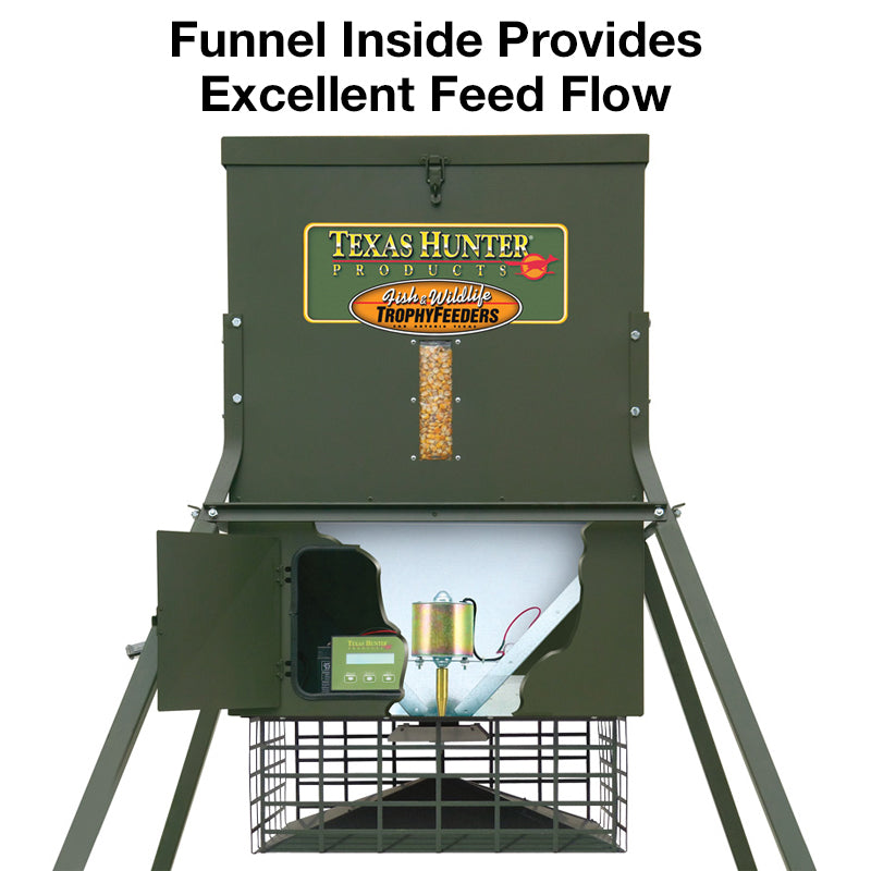 Texas Hunter Products - 300 lb. Wildlife Trophy Feeder with 4' Extension Legs