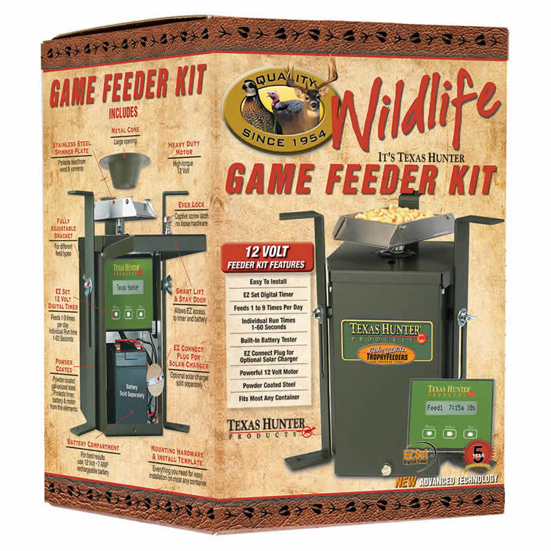 TEXAS HUNTER 12 VOLT WILDLIFE FEEDER KIT