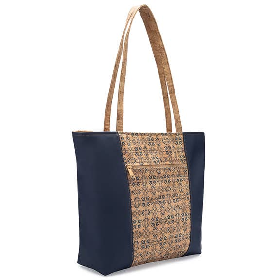 Natalie Therese - Be Basic 2 Large Tote Bag Tile Print