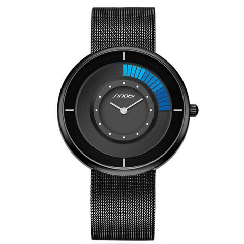 SINOBI Fashion Unique Rotating Luxury Ultra-thin Steel Watch