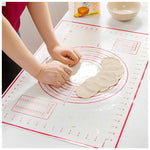 Silicone Baking Mat for Pastry Rolling with Measurements Pastry Rolling Mat, Reusable Non-Stick Silicone Baking Mat