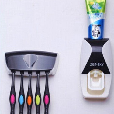Toothbrush holder dust - proof automatic squeezer - wash suit for lazy person toothpaste squeezer.
