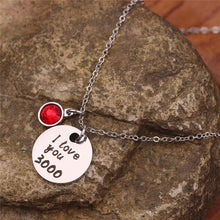 "Load image into Gallery viewer, "" I Love You 3000"" Necklace"