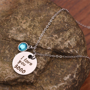 """ I Love You 3000"" Necklace"
