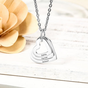 Personalized Family Heart Necklace