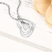 Load image into Gallery viewer, Personalized Family Heart Necklace