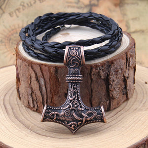 Thor's hammer mjolnir pendant viking necklace