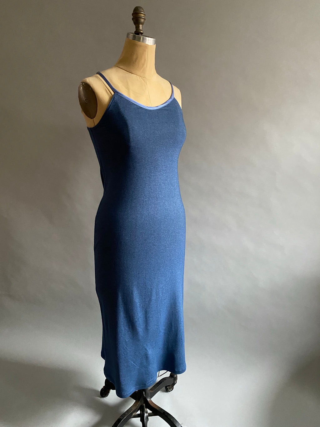 Denim Blue Italian Merino Wool Knit Nightie