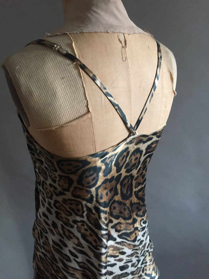 Animal Print Silk charmeuse slip