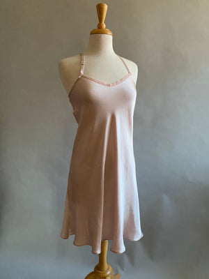 Blush Pink Silk Charmeuse Bias Slip