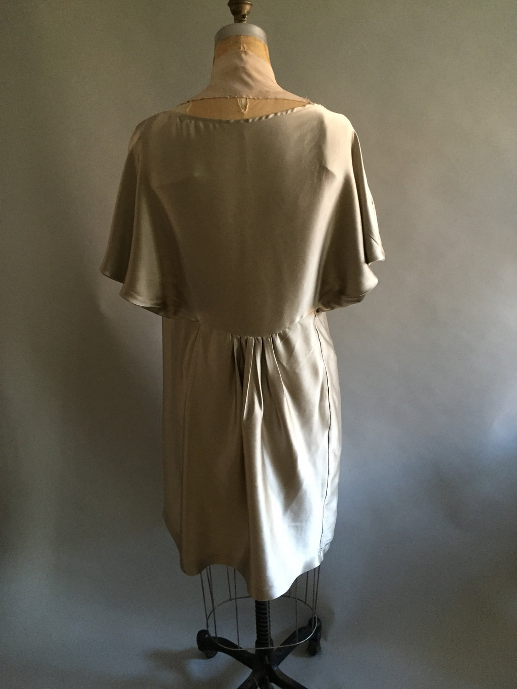Gray Silk Charmeuse Angie Dress