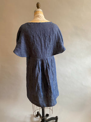 Denim Linen Batwing Dress