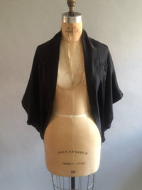 Black Silk Charmeuse Shrug