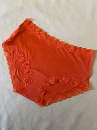 Orange Silk Jersey Boy Shorts