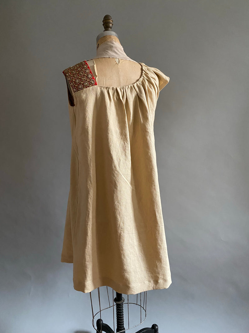 Pieces on SALE Heavyweight linen Beautygirl Sash Dress